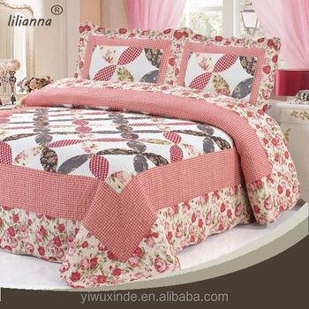amazon coverlet quot green hypoallergenic set quilt printed microfiber com dp bedspread king lightweight ruffle