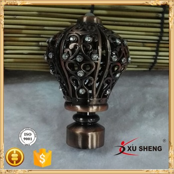 New Models Curtain Rods Leaf Finial Buy Curtain Rod Finials Metal
