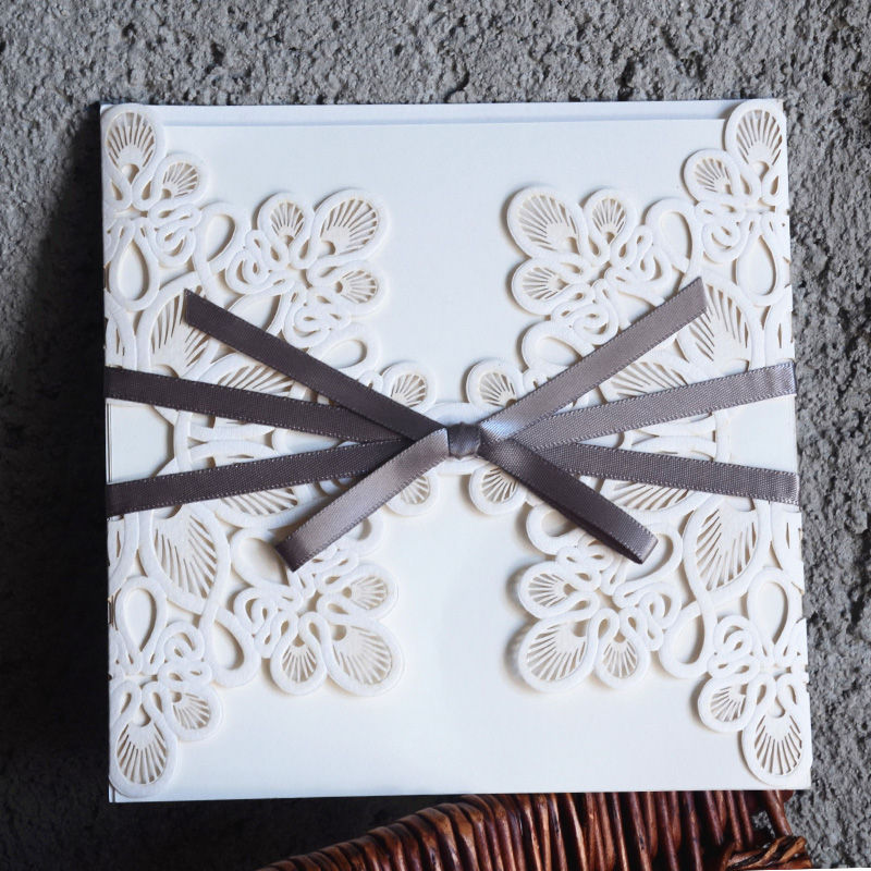 Wedding Invitations Cover: High Quality 50Pcs Wedding Invitations Laser Cutting With