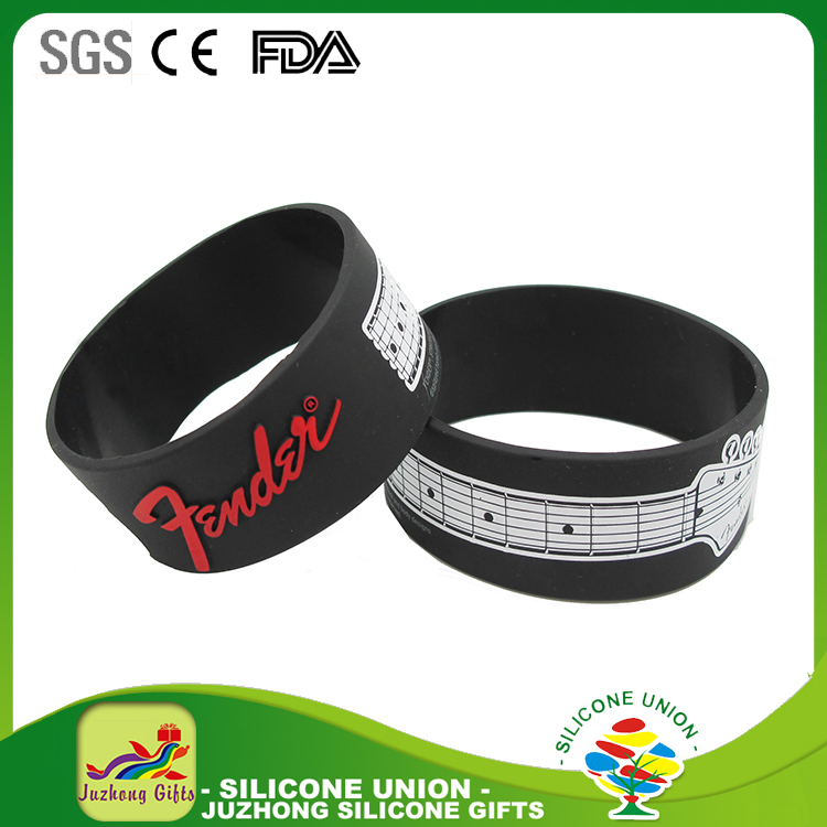 2017 cool fashion special design regular silicone wristband rubber bracelet