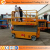 Electric hydraulic self propelled scissor lift, battery DC scissor lift with low price
