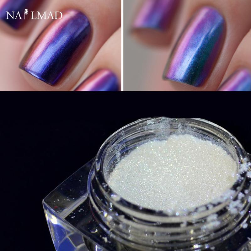 1 Box Chameleon Flakes Shimmer Galaxy Nail Glitter Dust: 1 Box Chameleon Nail Glitter Powder Multichrome Powder