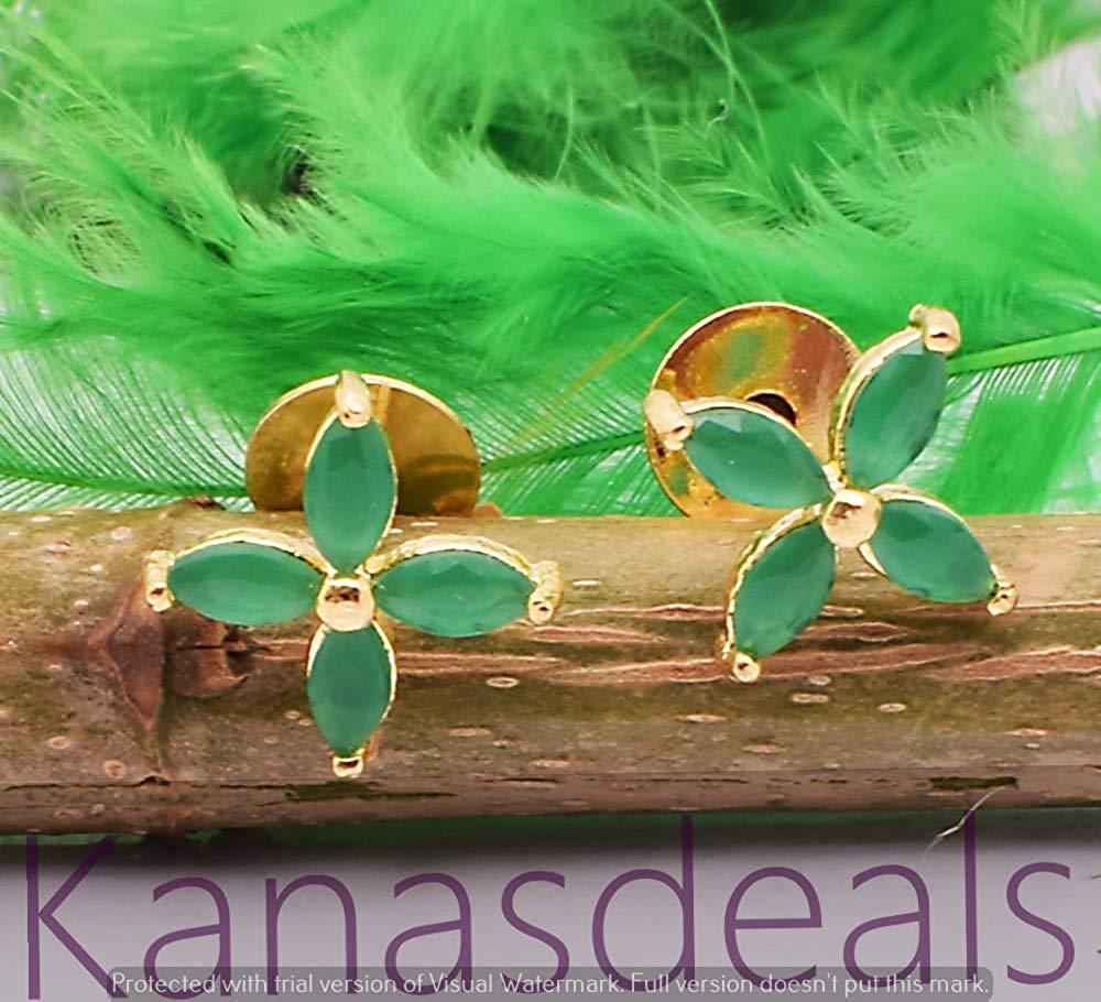Emerald Gemstone Ethnic Jewelry Handmade Earring E-11