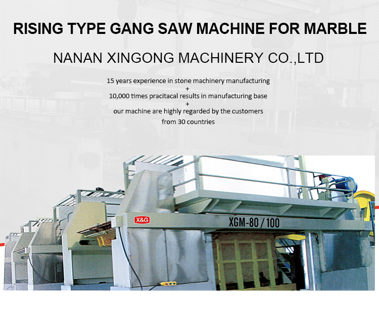 Marble slab gang saw cutting machine for sale