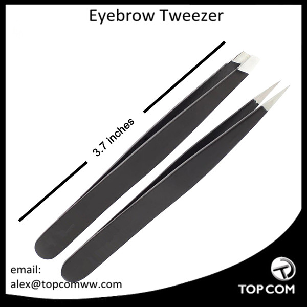 3 Tips Eyelash Eyebrow Tweezers Set Kits for Ingrown Hair with Slant Straight Pointed Tweezers