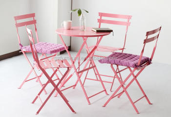 Pink french bistro chairs patio table and chairs