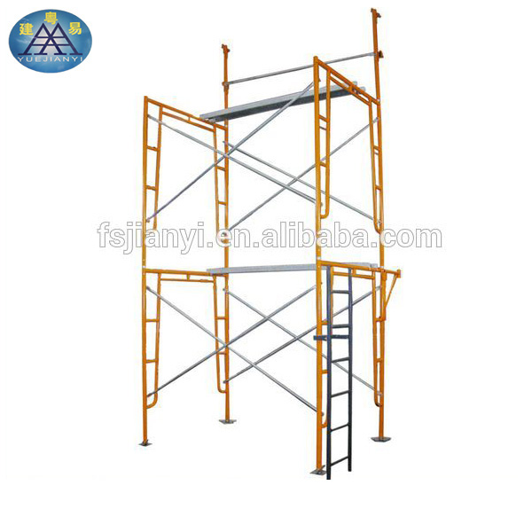 Custom Color Painted H Frame Construction Scaffolding For Sale