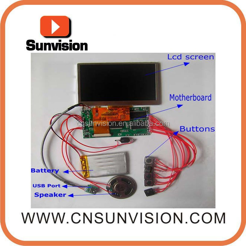 "accept custom order touch screen 10.1"" tft lcd video card module"