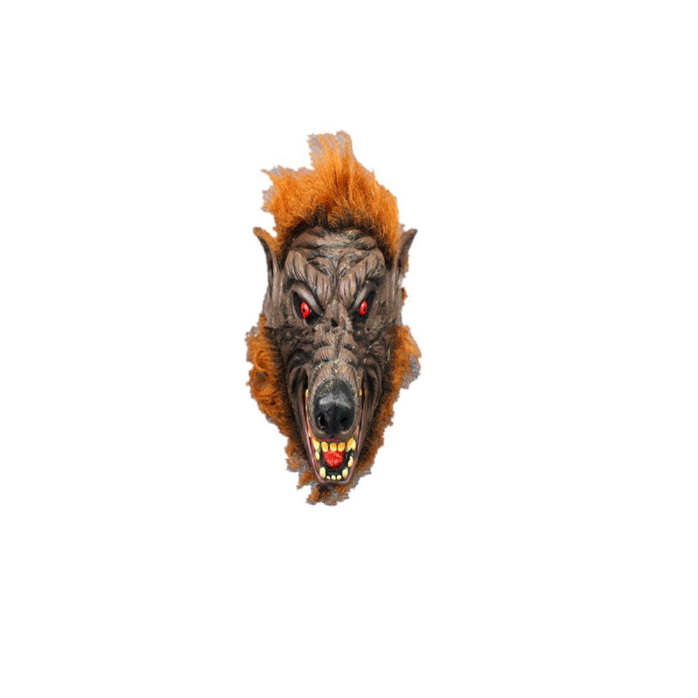 Syrinx High-Quality Halloween Mask Terror Goblin Mask - Full Mask Latex(orange)