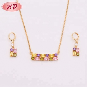 American 2 Gram Gold Plated Diamond Jewellery Sets For Women