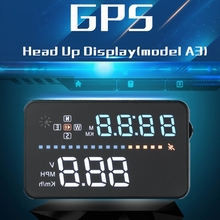 Universal GPS HUD speedometer head up display A3 car diagnostic tool 3.5 inch