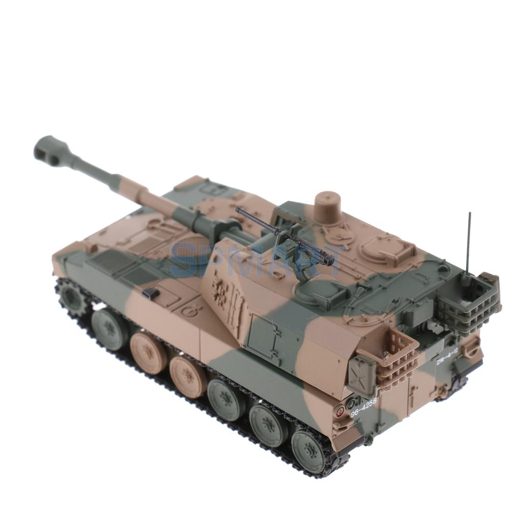 1/72 Scale Alloy Diecast Tank Japanese Type 75 155mm Howitzer Tank Model  Toy Children/ Adult's Collectible Gifts