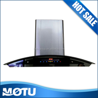 20# motor touch panel kitchen cooker hood with black chimney