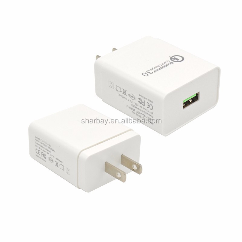 Mini portable usb charger 18W QC3.0 for mobile FOB HK