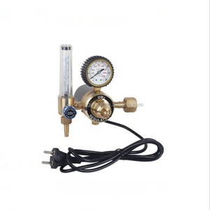 REFULGENCE CO2 HEATER GAS REGULATOR, FLOWMETER HEATER TYPE CO2 REGULATOR, FULL BRASS REGULATOR