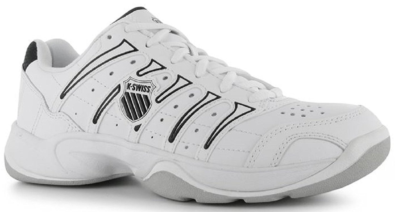 cede0b9ce55f Get Quotations · Ladies K Swiss Outshine Tennis Shoes White Silver