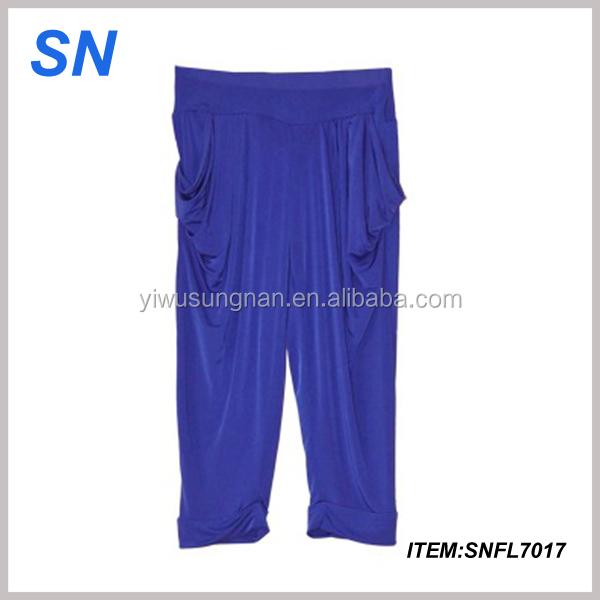 Ladies 3//4 Alibaba Baggy Shorts Women Cropped Harem Gym Pants Capri Active Sport