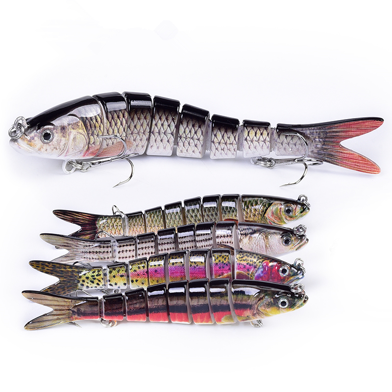 Flexible 8 Segment Hard Trout Fishing Lures Manufacturer, Buy Jointed Swim Biat Lures