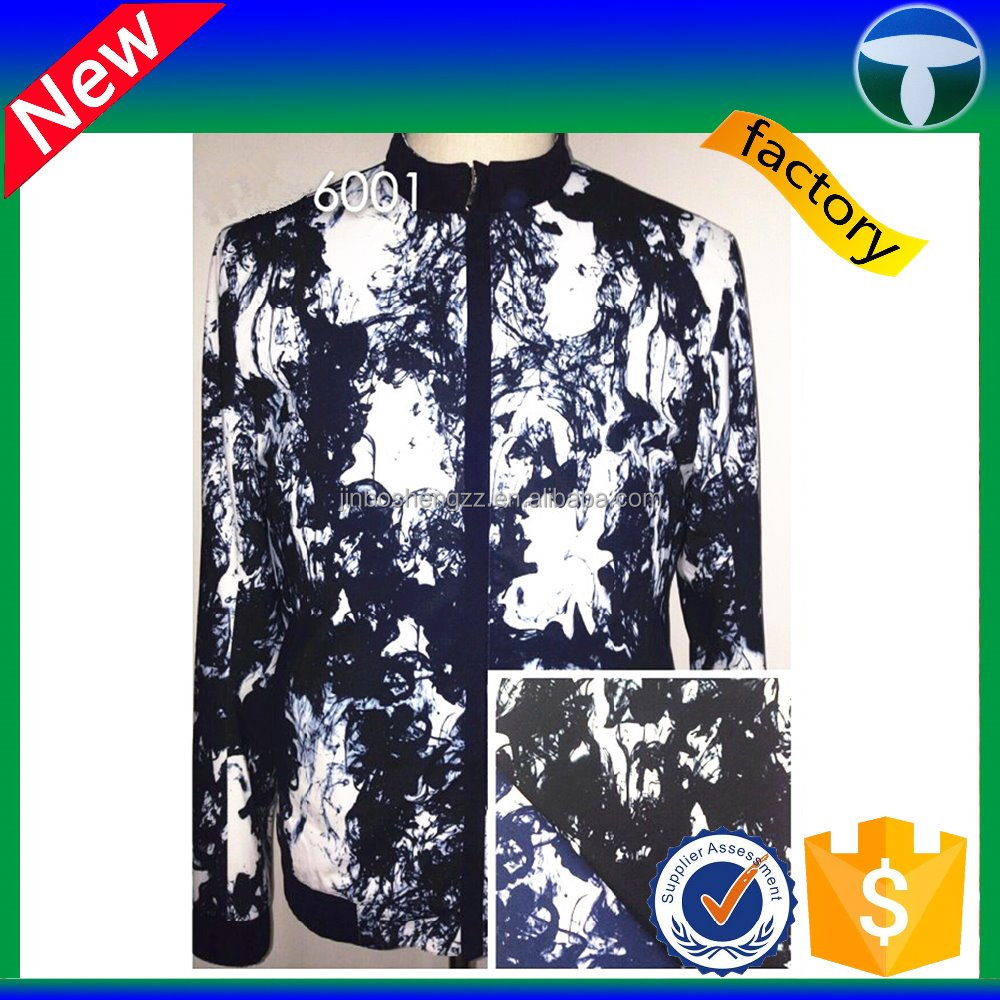 printed polyester cotton lycra fabric for man clothes with waterproof fabric roll