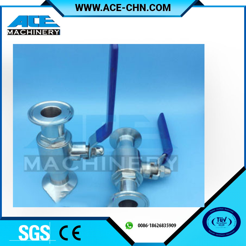 Competitive Price Of Stainless Steel Sanitary Clamped Ends 3 Way Ball Valve