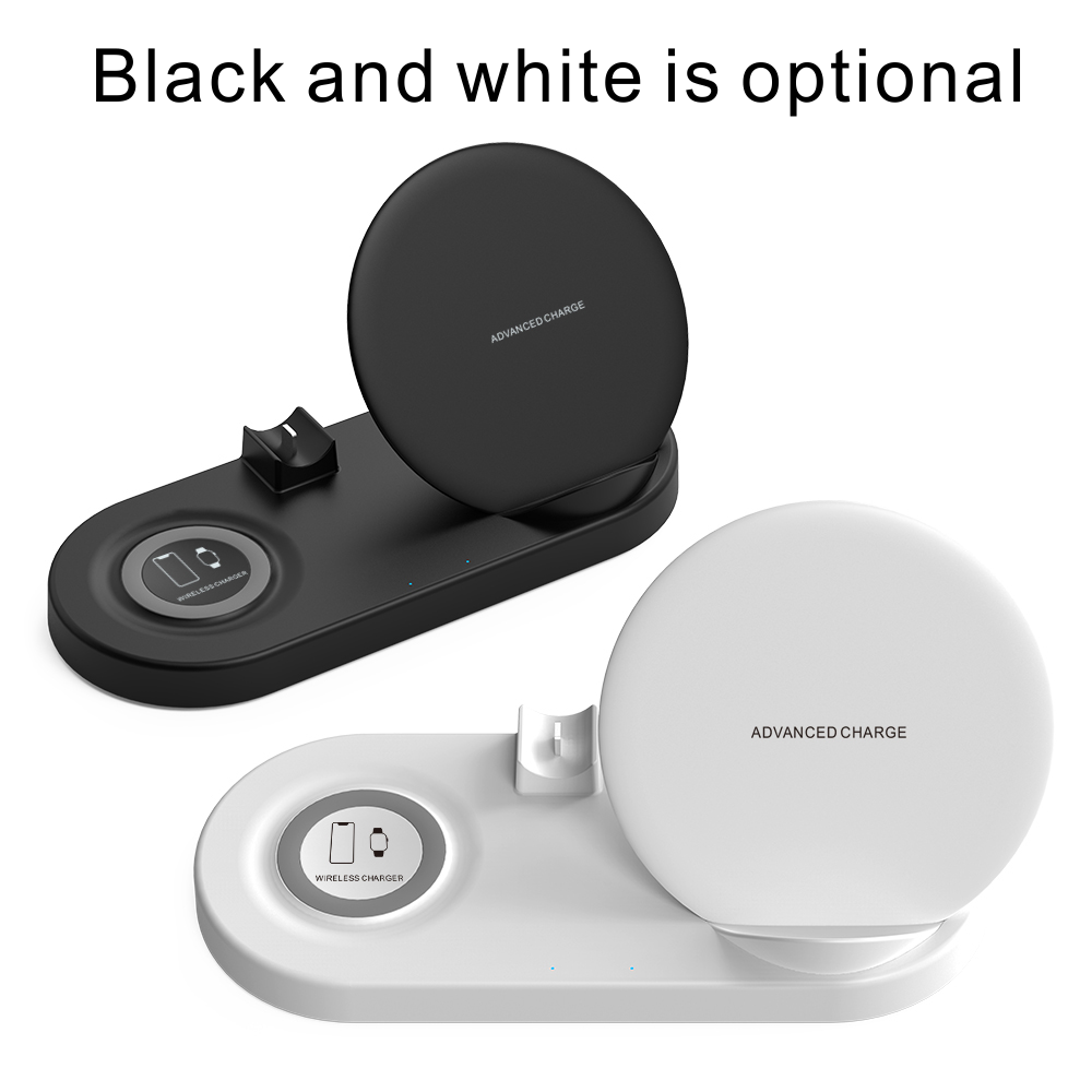 amazon 2019 5 in 1 wireless charger pad with 10w wireless weather station for mobile phone charger