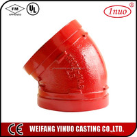 UL FM approved plumbing materials pipe fitting elbow pipe/pipe fitting 22.5 degree elbow