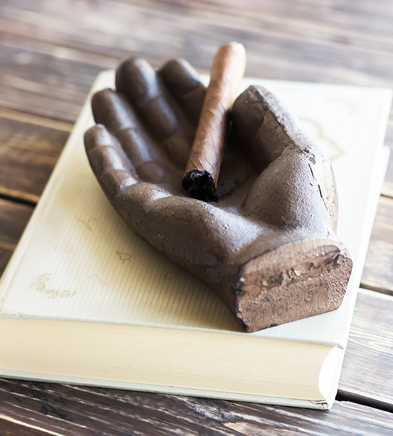 [Independence Day Sale] Cigar Ashtray | Cast Iron Hand Antique Ashtray | Use as Outdoor Ashtray or Indoors, Cigarette Ashtray, Personal Ashtray | Decorative Ashtray by Comfify