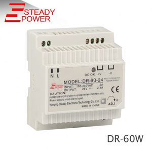 DR-60-24 power supply 24v 2.5a plastic box din rail ac/dc transformer 60w