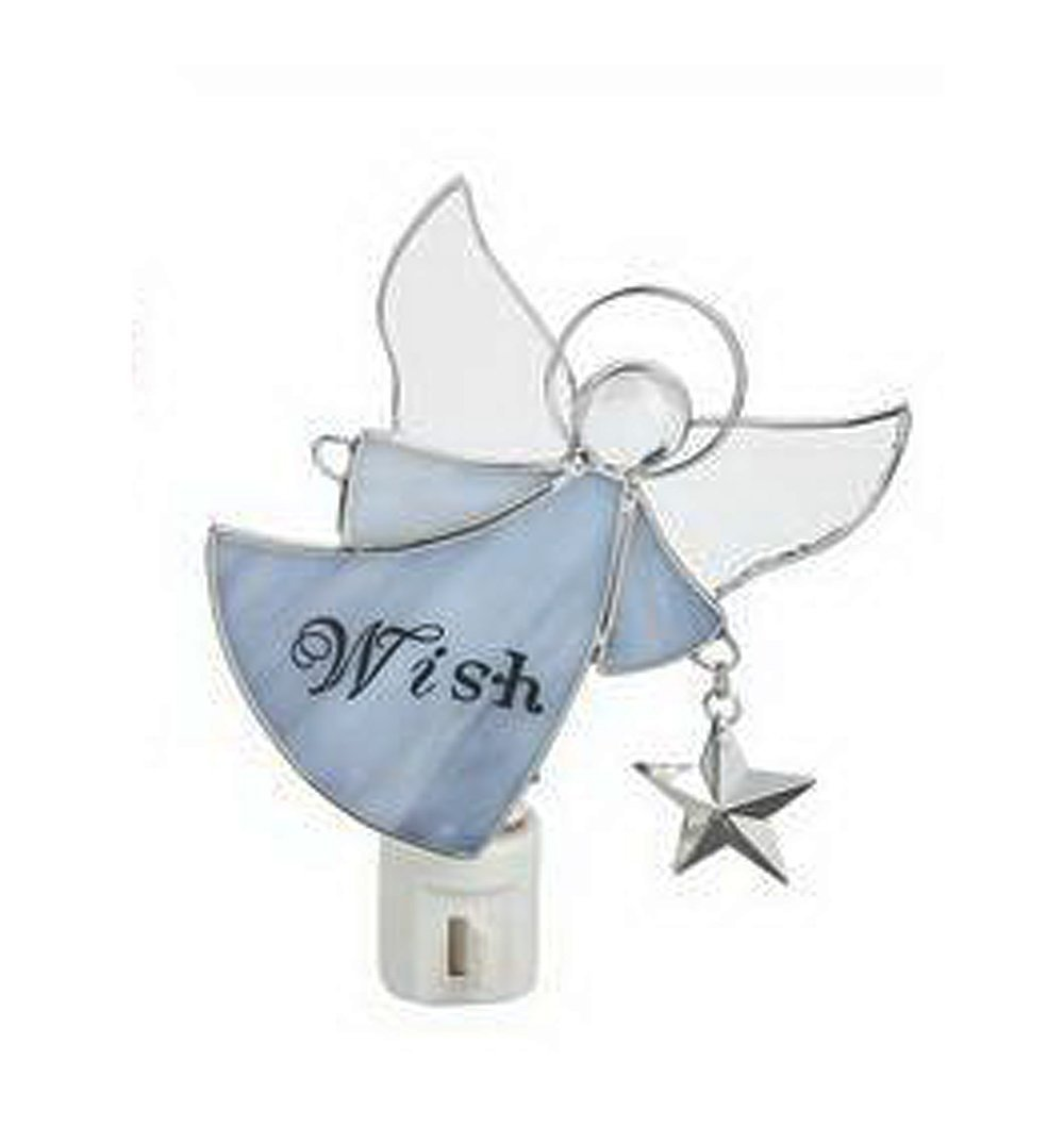 Get Quotations Purple Wish Angel Stained Gl Nightlight By Ganz