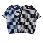 2019 summer striped fashion strip 100% cotton t-shirt