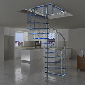 Prefabricated New Design Exterior Stainless Steel Spiral Staircase /  Outdoor Metal Stairs