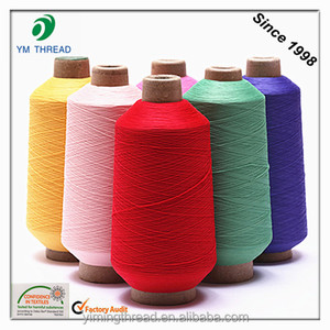 Dyed Polyester textured yarn 300D for Socks