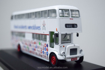 Mini scale diecast double decker bus toy for sale