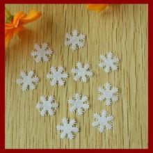 200PCS 15mm Felt Snowflake Applique as Indoor Christmas Decoration Ornament,non-woven patches for wedding party handwork bolsas