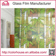 122m50m decorative window stained glass film with pattern