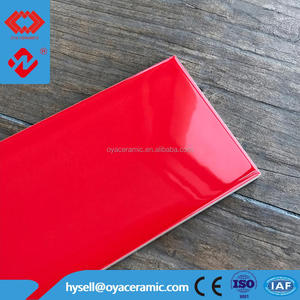 "10*30cm 4*12"" 100*300 4""*12"" 100*300mm subway ceramic tile and gloss red wall tile"