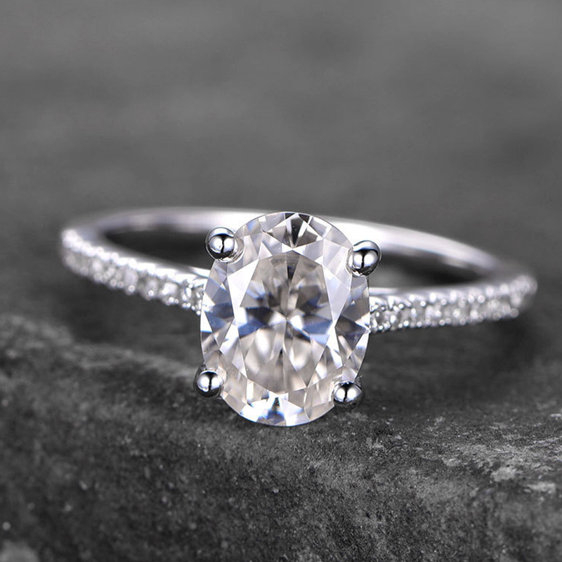 PLW02 Simple designs Moissanite engagement <strong>ring</strong> in 14k white gold wedding <strong>Ring</strong>