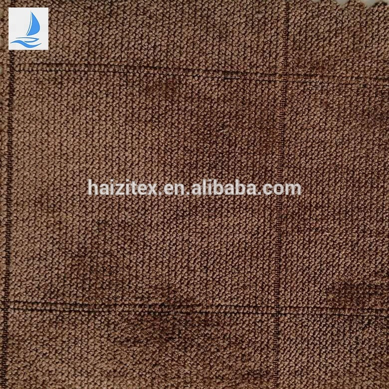 China hot sell for velvet varsity ribstop polyester textile grid jacquard velvet fabric for jacket