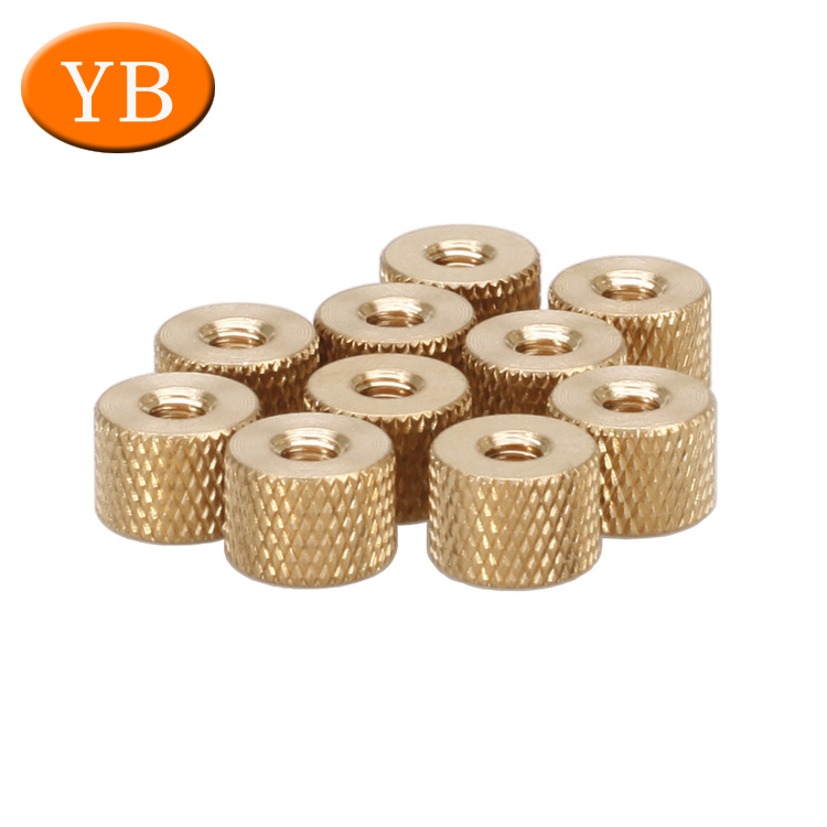 OEM Brass Fasteners Products Automatic Lathe Machine Custom Round Knurled Nuts