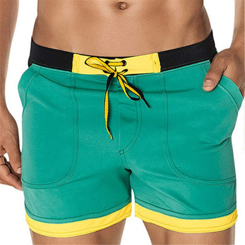 Coac3 Men's Swimwear Beach Board Shorts Swim Trunks Swimsuits Bathing Suits Swimming Boxer Surf