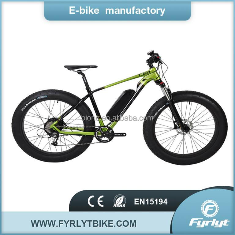 hunting colored mountain ebike 500w electric fat tire bike with 26*4.0big snow electric bike
