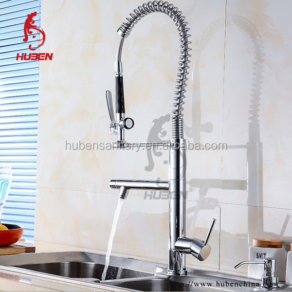 Modern Kitchen Designs pull out brass Flexible Water Tap
