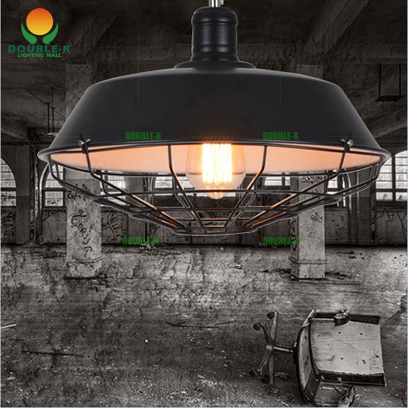 Garage Door Beam Lights: Vintage Chandeliers Lamp 36cm/46cm Metal Pendant Lampshade