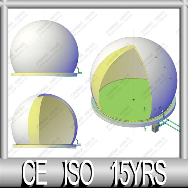 ISO Factory of Dual Membrane Gas Storage Balloon