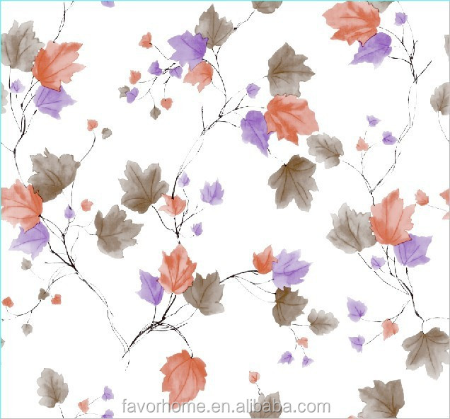 Leaves Design Back Nonwoven Vinyl Tablecloth/Table Runner/Table Cover