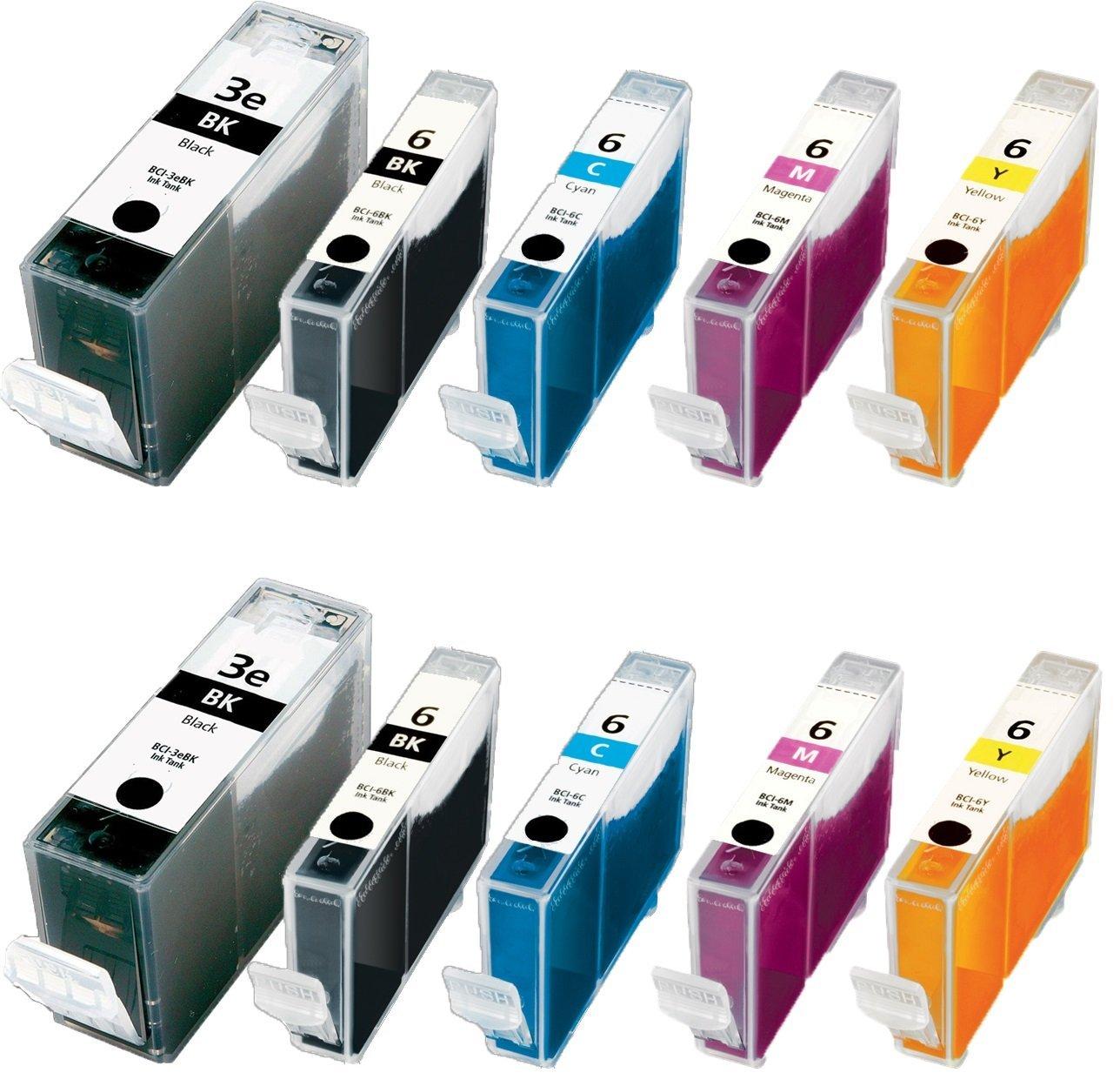 10/Pack BCI 3e BCI 6 2B/2B/2C/2M/2Y Combo ink cartridges Canon Cartridges Compatible with: PIXMA iP5000 i860 i865 Photo PIXMA MP750 MP760 MP780 iP3000