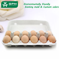 12 egg storage container box, recycled paper egg cartons,pulp egg tray