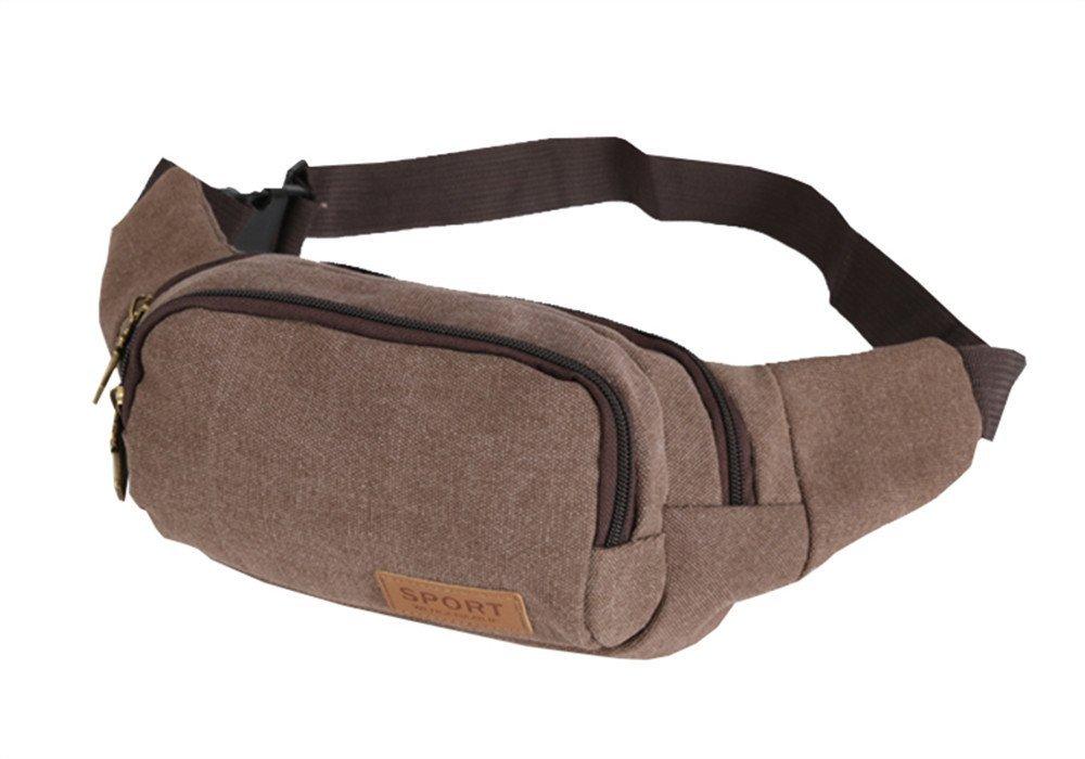 Ben Sports Canvas Waist Pack Running Travel Hip Pouch Wallet Bag Sports Bag