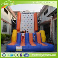 Inflatable Kids Rock Climbing Wall, Adventure Climbing Games, cheap inflatable climbing wall