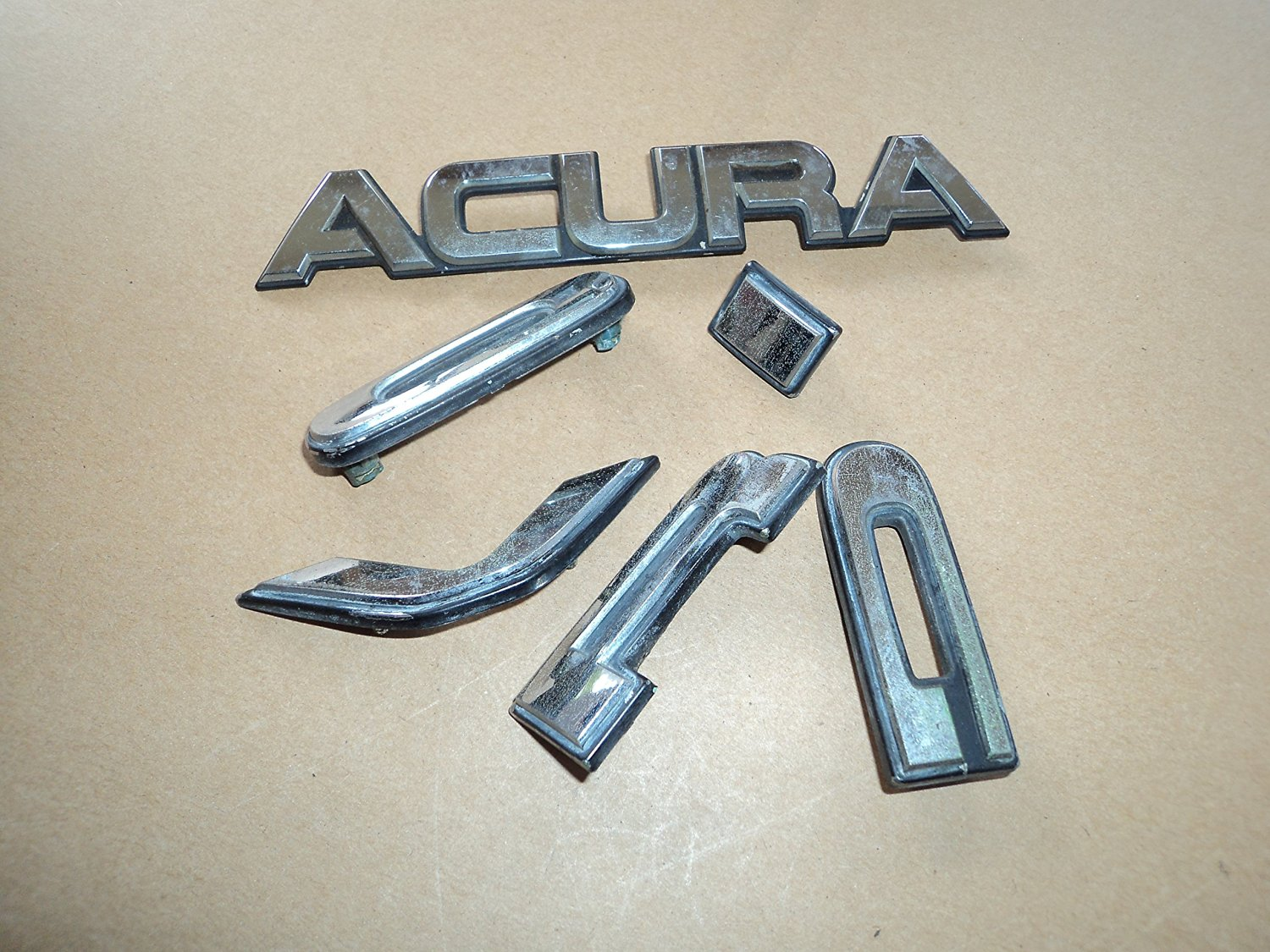 Buy Acura Vigor Rear Trunk Emblem Logo Ornament Set Of Decals - Acura decals